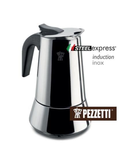 Pezzetti Steelexpress nerez moka kanvice, 4 šálky, 200ml