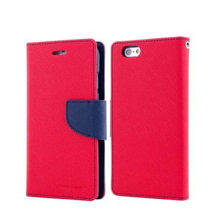 Goospery preklopna torbica Fancy Diary za Samsung Galaxy S6 Edge (G925), rdeče-modra