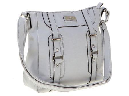 ddf42e15db s.Oliver prostorná dámská kabelka s kovovými detaily šedá ...