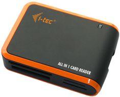 I-TEC USB 2.0 univerzális olvasó (fekete / narancssárga)