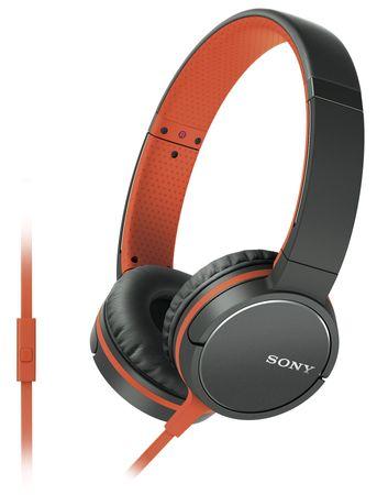 SONY MDR-ZX660AP Fejhallgató, Narancssárga