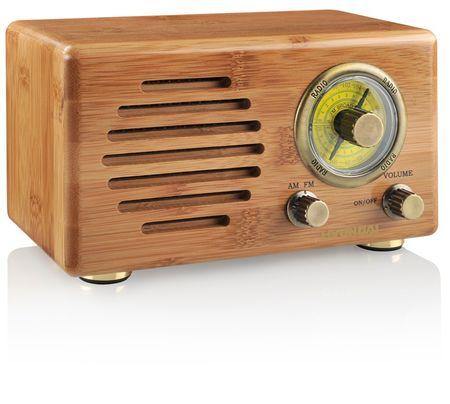 Hyundai retro radio RC410B, bambus
