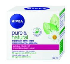 Nivea ublažavajuća dnevna krema za suhu i osjetljivu kožu Pure & Natural, 50 ml