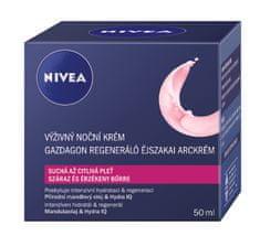 Nivea obnovitvena nočna krema za suho in občutljivo kožo Aqua Effect, 50 ml