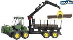 Bruder traktor John Deere s prikolico za les 1210E