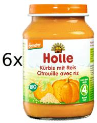 Holle Bio Tekvica s ryžou - 6x190g