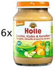 Holle Bio Cuketa a dýně s bramborem - 6x190g