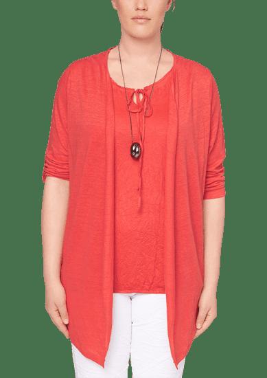 s.Oliver dámský svetr pro plnoštíhlé 54 červená