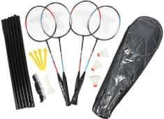 Eddy Toys Badminton zestaw dla 4 graczy z siatką