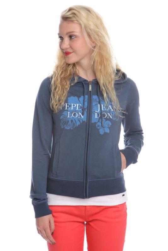 Pepe Jeans dámská mikina Mami S modrá - Recenze  648e3cc03d