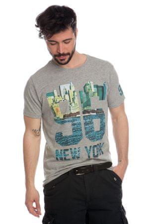 f6276e898569 Brave Soul pánské tričko Lewis L šedá