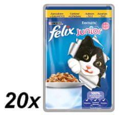 Felix mokra hrana za mlade mačke Fantastic, piščanec, 20x100g