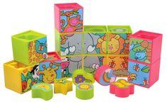 Teddies BABY Kolorowe klocki z obrazkami