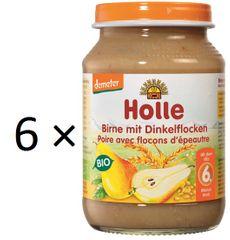Holle Bio Hruška a špaldové vločky - 6 x 190g