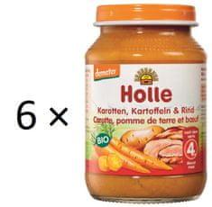 Holle Bio Mrkva, zemiaky a hovädzie mäso - 6 x 190g