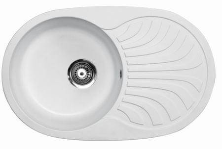 Metalac Venera Plus kuhinjski sudoper, bijeli