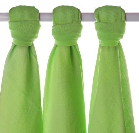 XKKO Bambusové pleny 70x70cm - 3ks - Zelené