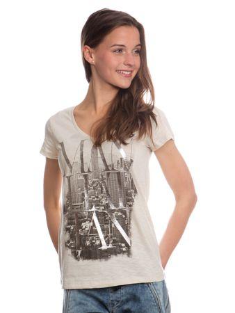 6af247cc2288 s.Oliver originální dámské tričko s potiskem 38 béžová
