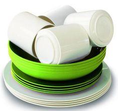 Eurotrail set pribora za jelo, zeleni