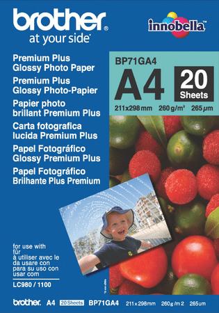 Brother papir A4 Glossy, 20-listov, 260 g/m2