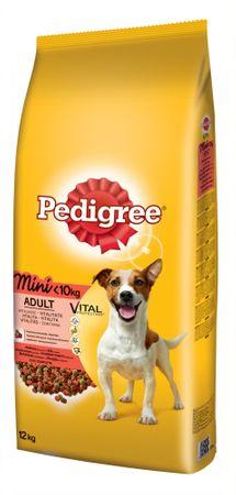 Pedigree hrana za odrasle pse malih pasmina, govedina 12 kg