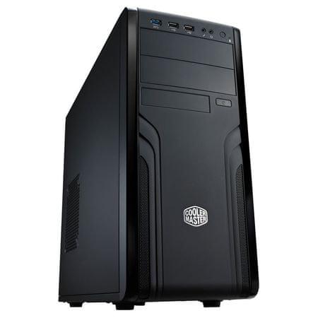 Cooler Master Midi ATX ohišje Force 500 FOR-500-KKN1 USB3.0, črno