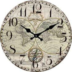 Lowell Designové nástenné hodiny 14863