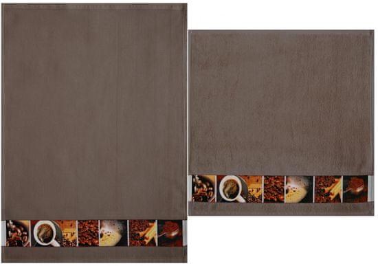 Framsohn Set kuchyňského ručníku a utěrky, coffee
