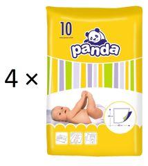 Panda Detské prebalovacie podložky - 4 x 10 ks