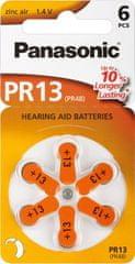 Panasonic set šestih baterij Zinc Air PR13L (za slušni aparat)