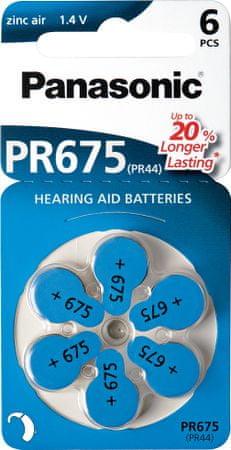 Panasonic set šestih baterij Zinc Air PR675LH