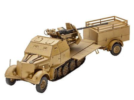 REVELL 03207 ModelKit Sd.Kfz. 7/2 Modell, 1:72