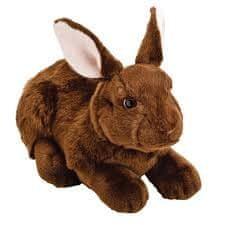 Suki zečić, tamno smeđi, 30 cm