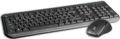 C-Tech WLKMC-01, bezdrôtový combo set s myšou, čierná, USB, CZ/SK