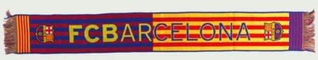 Barcelona FC šal, modro-rdeče-rumen