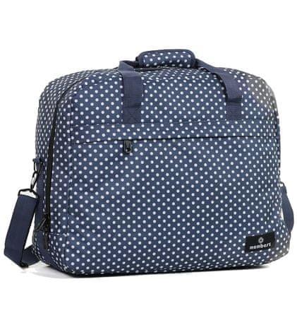 MEMBER´S potovalna torba, 40 l, modra z belimi pikami