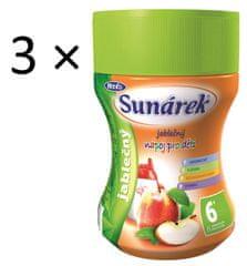 Sunárek Instantní nápoj jablečný, 3×200g