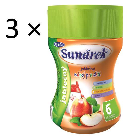 Sunárek Jablčný nápoj, 3 x 200g