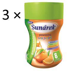 Sunárek Instantní nápoj pomerančový, 3×200g