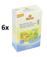 Holle Bio počiatočná mliečna dojčenská výživa 6x400g