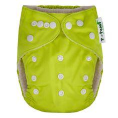 T-tomi hlače/pelene od bambusa All in One, zelene
