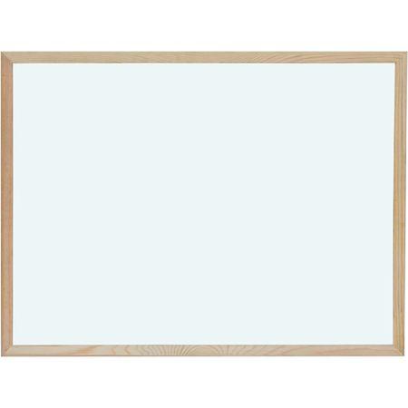 Optima magnetna tabla 45 x 60, bela, lesen okvir
