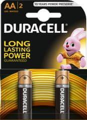 Duracell baterija Basic AA/BL2, 2 kosa