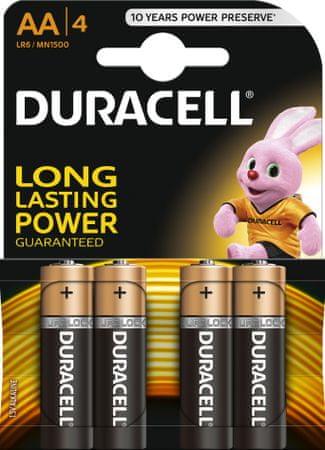 Duracell baterije AA, 4kom (MN1500, LR6)