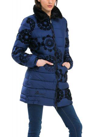 531481345e Desigual dámský kabát 36 modrá | MALL.CZ
