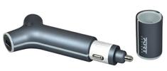 Port Designs autopunjač 2x USB + powerbank (202077)