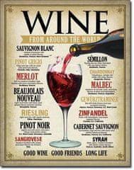 Postershop Plechová tabuľa WINE
