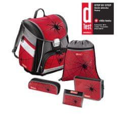 Step by Step Školská aktovka - set Červený pavúk