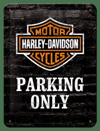 Postershop okrasna tabla Harley-Davidson Parking Only 15 x 20 cm