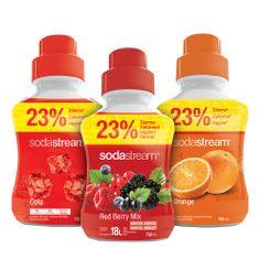 SodaStream Narancs/Erdei gyümölcs/Cola szörp 750 ml